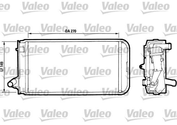 Radiateur de chauffage VALEO 811393 (X1)