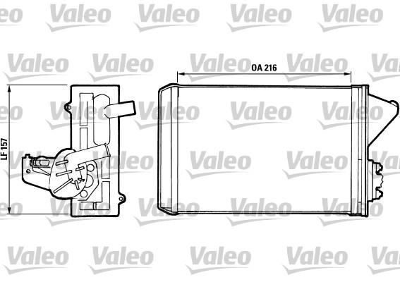 Radiateur de chauffage VALEO 811397 (X1)