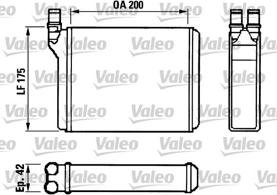 Radiateur de chauffage VALEO 812022 (X1)