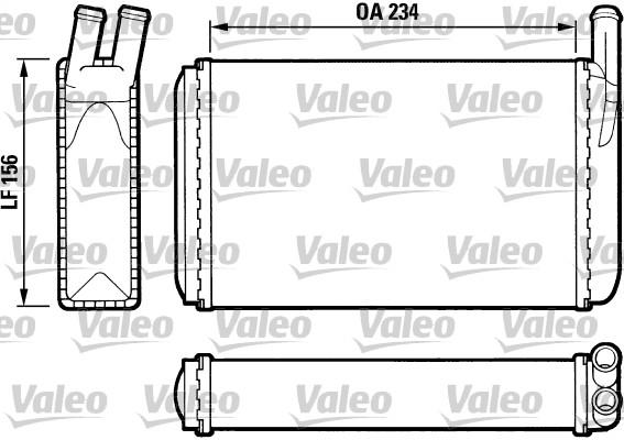 Radiateur de chauffage VALEO 812034 (X1)