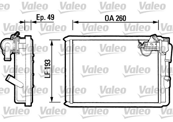 Radiateur de chauffage VALEO 812047 (X1)