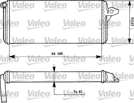 Radiateur de chauffage VALEO 812085 (X1)
