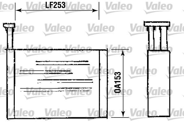 Radiateur de chauffage VALEO 812144 (X1)