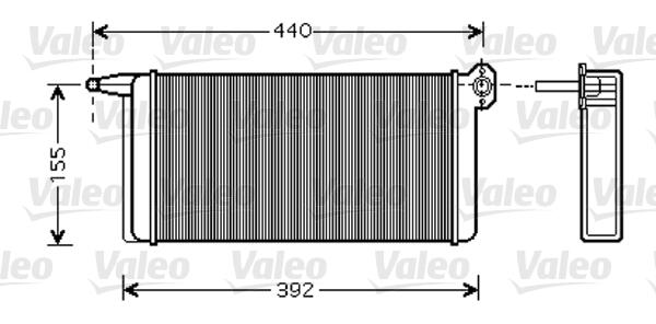 Radiateur de chauffage VALEO 812347 (X1)
