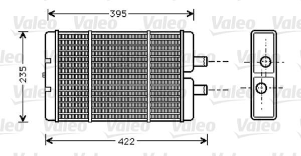 Radiateur de chauffage VALEO 812353 (X1)
