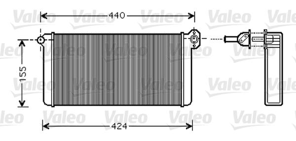 Radiateur de chauffage VALEO 812356 (X1)