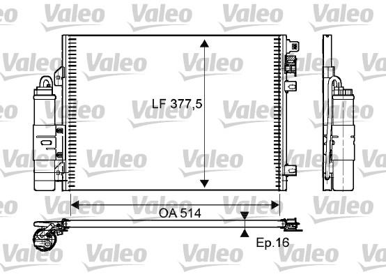 Condenseur / Radiateur de climatisation VALEO 814051 (X1)