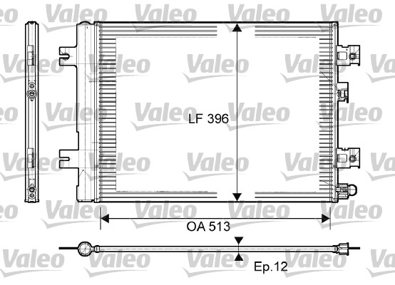Condenseur / Radiateur de climatisation VALEO 814077 (X1)
