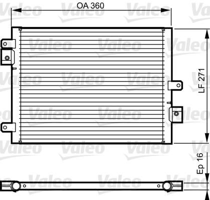 Condenseur / Radiateur de climatisation VALEO 814167 (X1)
