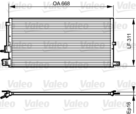 Condenseur / Radiateur de climatisation VALEO 814199 (X1)
