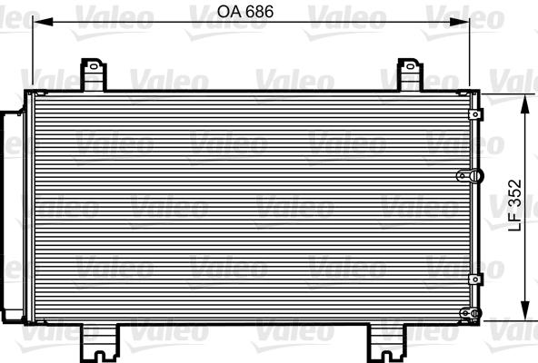 Condenseur / Radiateur de climatisation VALEO 814226 (X1)