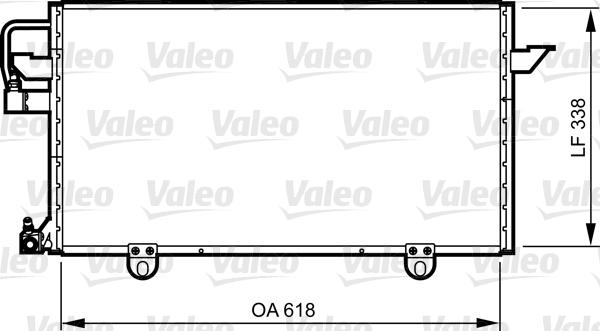Condenseur / Radiateur de climatisation VALEO 814286 (X1)