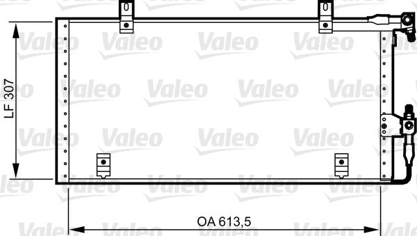 Condenseur / Radiateur de climatisation VALEO 814291 (X1)