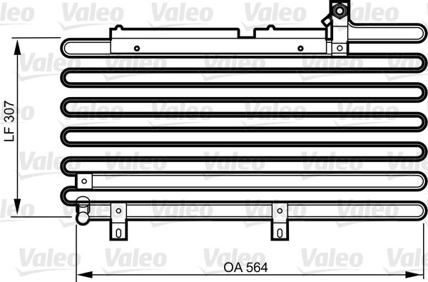 Condenseur / Radiateur de climatisation VALEO 814295 (X1)