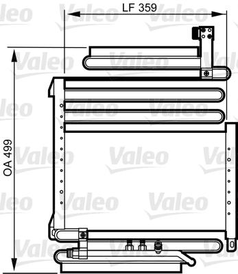 Condenseur / Radiateur de climatisation VALEO 814296 (X1)