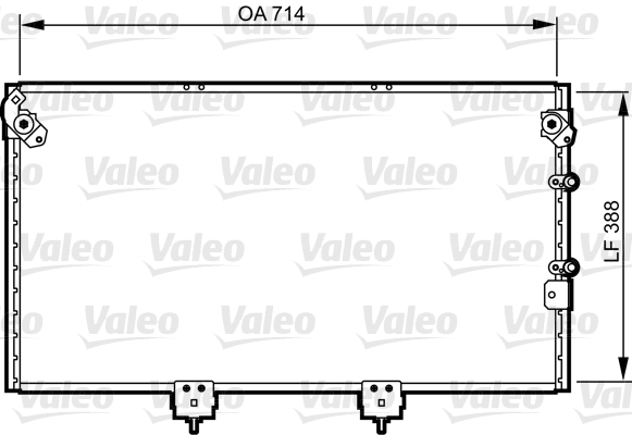Condenseur / Radiateur de climatisation VALEO 814310 (X1)