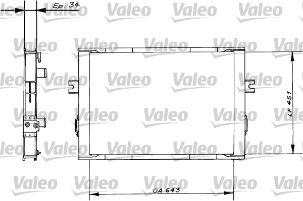 Radiateur de refroidissement VALEO 816646 (X1)