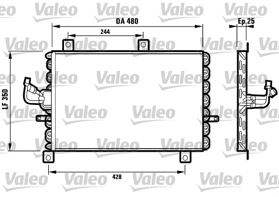 Condenseur / Radiateur de climatisation VALEO 816965 (X1)