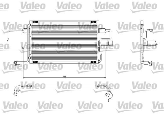 Condenseur / Radiateur de climatisation VALEO 817244 (X1)