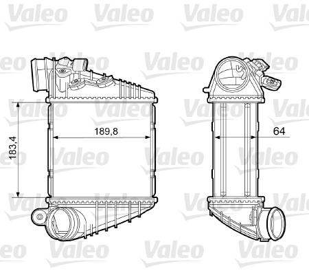Intercooler radiateur de turbo VALEO 817457 (X1)