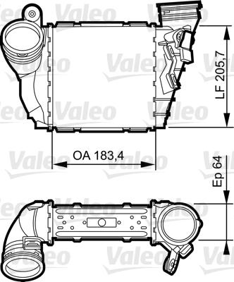 Intercooler radiateur de turbo VALEO 817557 (X1)