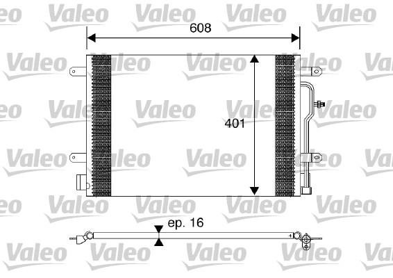 Condenseur / Radiateur de climatisation VALEO 817569 (X1)