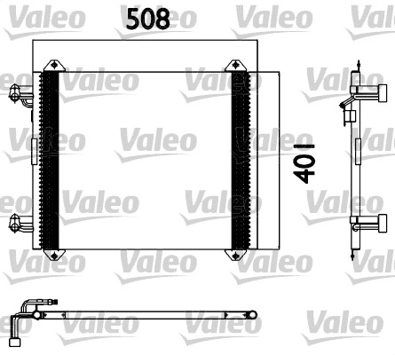 Condenseur / Radiateur de climatisation VALEO 817570 (X1)
