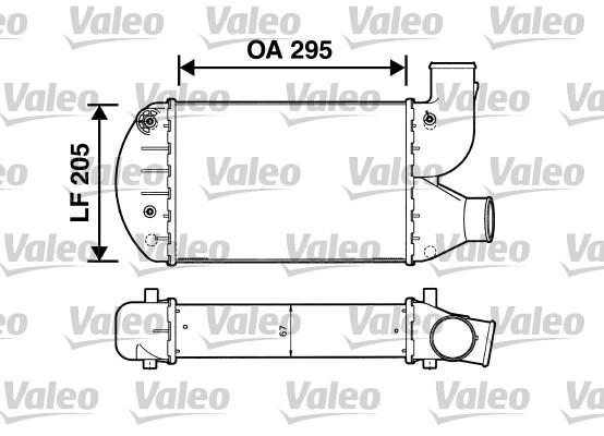 Intercooler radiateur de turbo VALEO 817626 (X1)