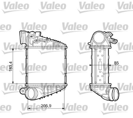 Intercooler radiateur de turbo VALEO 817653 (X1)