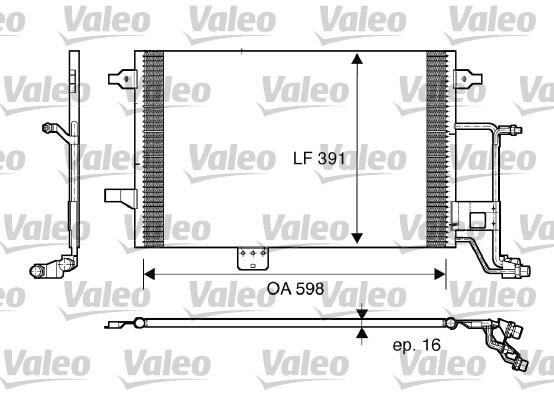 Condenseur / Radiateur de climatisation VALEO 817665 (X1)