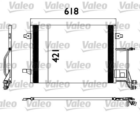 Condenseur / Radiateur de climatisation VALEO 817666 (X1)