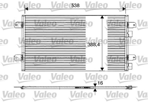 Condenseur / Radiateur de climatisation VALEO 817701 (X1)