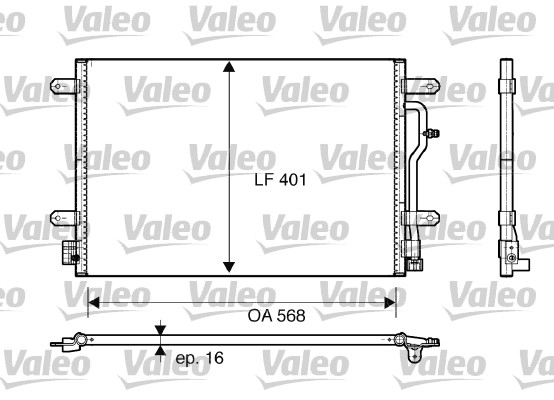 Condenseur / Radiateur de climatisation VALEO 817741 (X1)