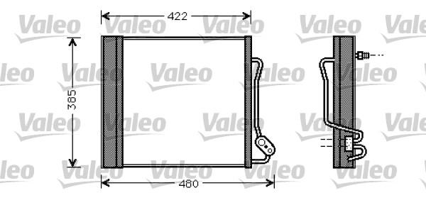 Condenseur / Radiateur de climatisation VALEO 817801 (X1)
