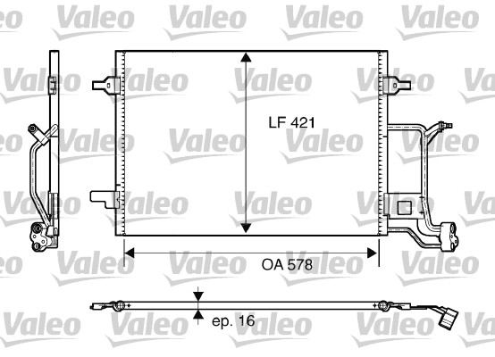Condenseur / Radiateur de climatisation VALEO 817840 (X1)