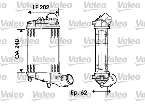 Intercooler radiateur de turbo VALEO 817861 (X1)