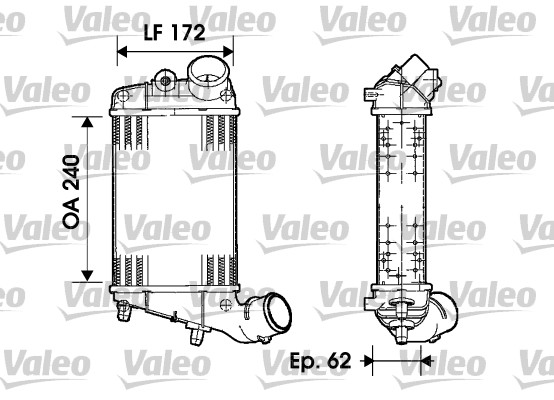 Intercooler radiateur de turbo VALEO 817862 (X1)