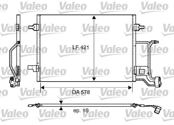 Condenseur / Radiateur de climatisation VALEO 817997 (X1)