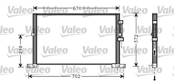 Condenseur / Radiateur de climatisation VALEO 818023 (X1)
