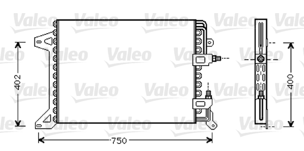Condenseur / Radiateur de climatisation VALEO 818038 (X1)