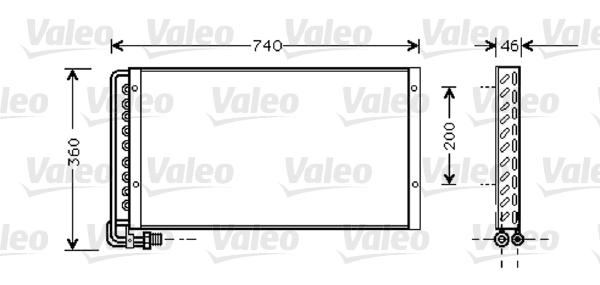 Condenseur / Radiateur de climatisation VALEO 818040 (X1)