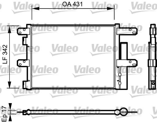 Condenseur / Radiateur de climatisation VALEO 818116 (X1)