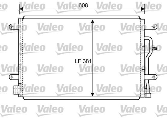 Condenseur / Radiateur de climatisation VALEO 818190 (X1)
