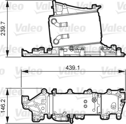 Intercooler radiateur de turbo VALEO 818265 (X1)