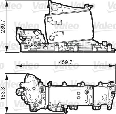 Intercooler radiateur de turbo VALEO 818268 (X1)