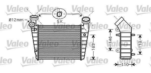 Intercooler radiateur de turbo VALEO 818720 (X1)