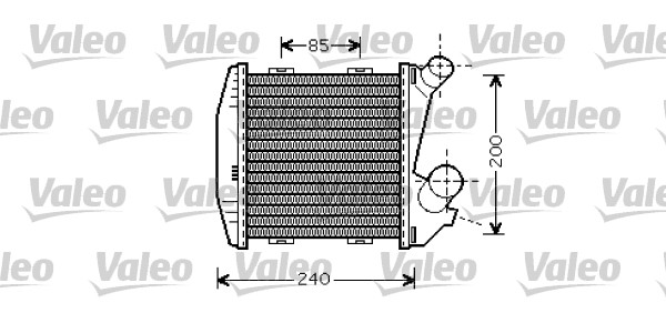 Intercooler radiateur de turbo VALEO 818730 (X1)