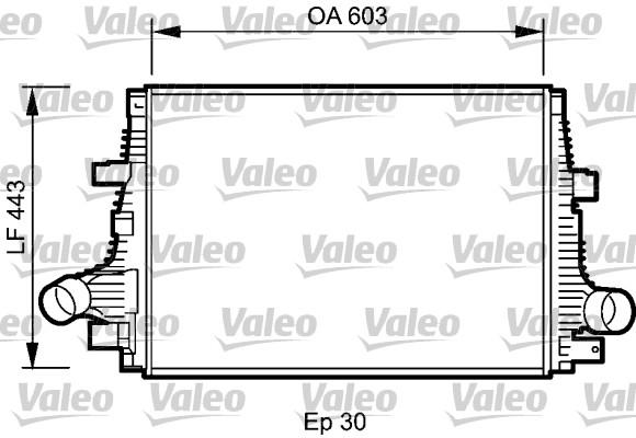 Intercooler radiateur de turbo VALEO 818794 (X1)