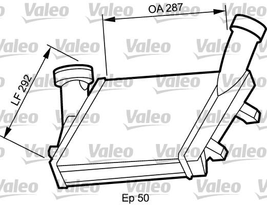 Intercooler radiateur de turbo VALEO 818815 (X1)