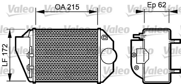 Intercooler radiateur de turbo VALEO 818827 (X1)
